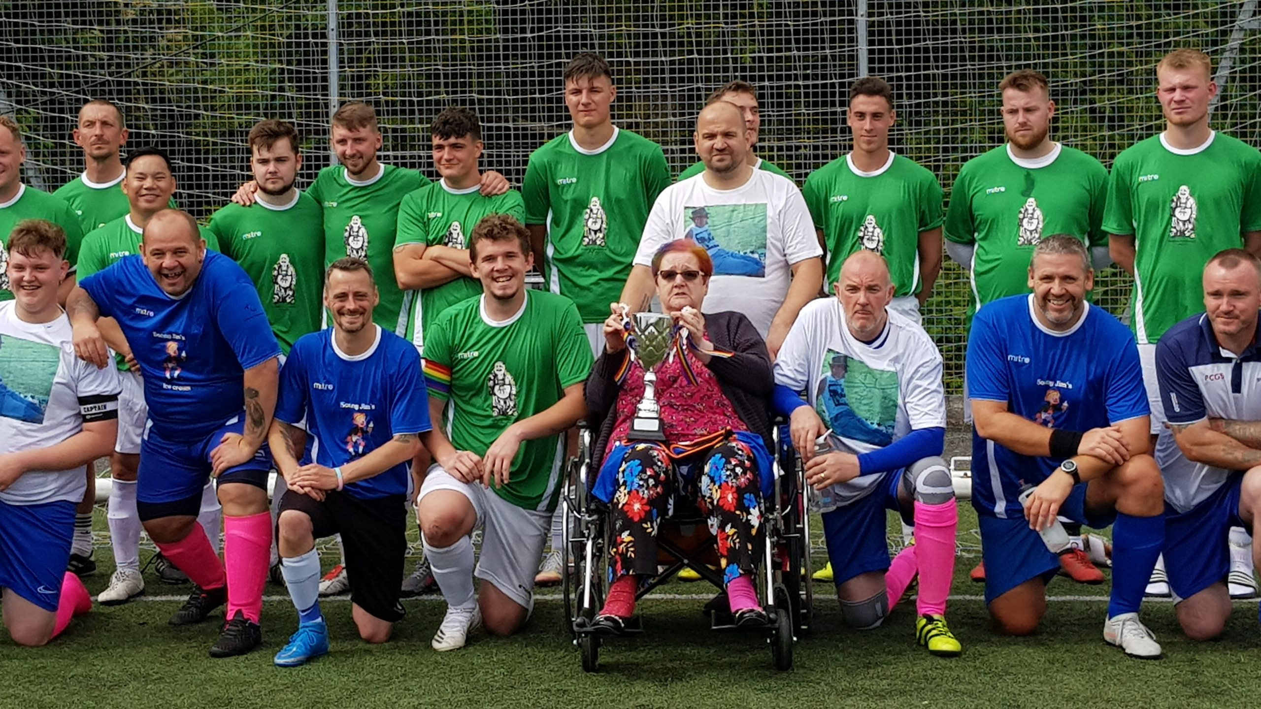 Kick about for Kevin brings it home for local charity in high scoring game
