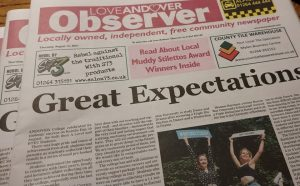 Love Andover Observer Front Page August 12th 2021