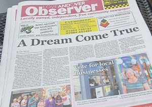 Love Andover Observer Front Page 15th July 2021