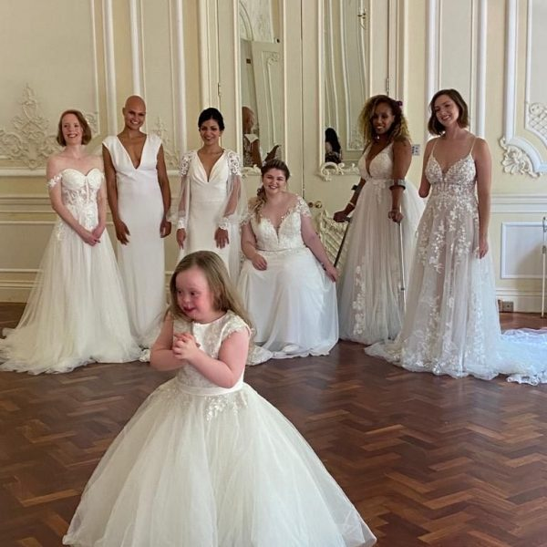 Frankie makes history in the UK's first inclusive bridal shoot