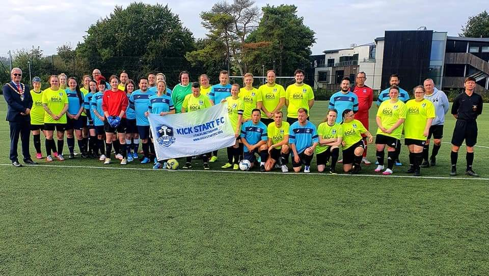 'Mixed gender' football fixture success for Kick Start FC on World Mental Health Day