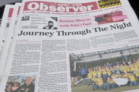 Love Andover Observer newspaper Front Page 7th October 2021